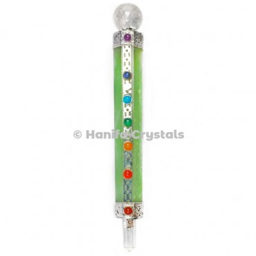 Green Aventurine with 7 Chakra Healing Wands