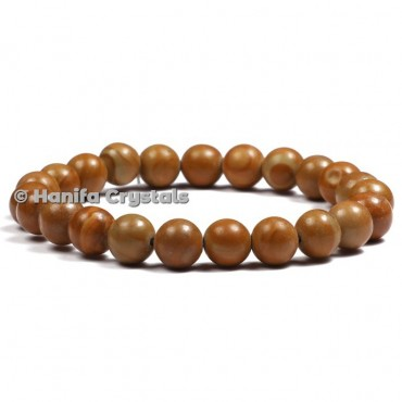 Peach Aventurine Beads Bracelet