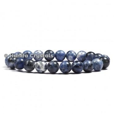Sodailite Round Beads Bracelet