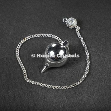 Brass Silver Ball Metal Pendulum
