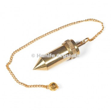 Bullet Golden Metal Openable Dowsing Pendulum