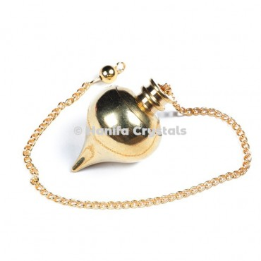 Golden Metal Openable Ball Shape Dowsing Pendulum