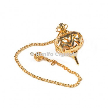 Openable Cage Golden Dowsing Pendulum