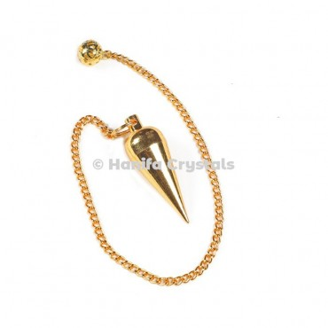 Small Drop Golden Metal Dowsing Pendulum