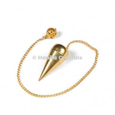 Openable Golden Brass Plain Dowsing Pendulum