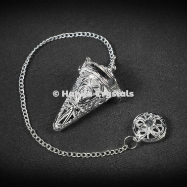 Openable Cage Silver Dowsing Pendulum