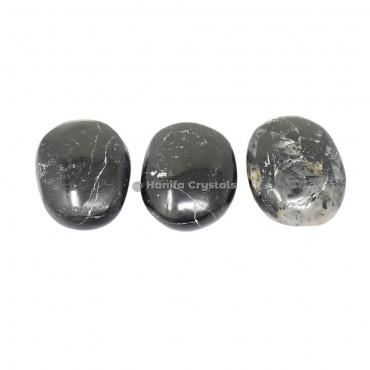 Black Rutile Palm Stones