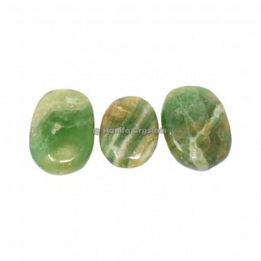 Green Flourite Palm Stones