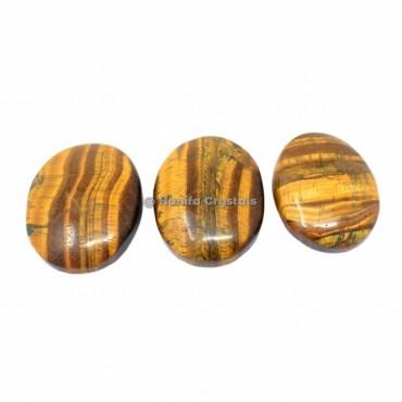 Tiger Eye Palm Stones