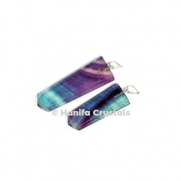 Flat Multi Flourite Pencil Pendant