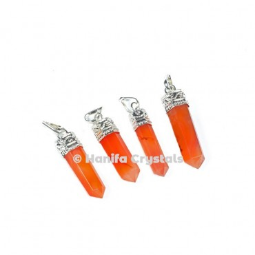 Red Carnelian Pencil cap Pendants