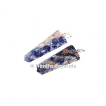 Flat Sodalite Pencil Pendant