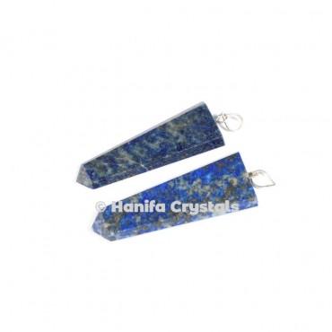 Flat Lapis Lazuli Pencil Pendant