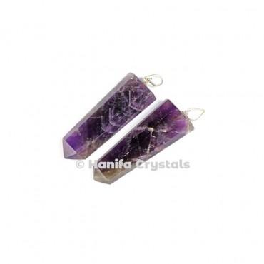 Flat Amethyst Pencil Pendant