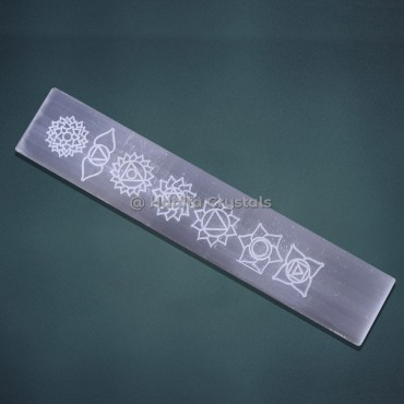 Flower of life Selenite Massage Wand