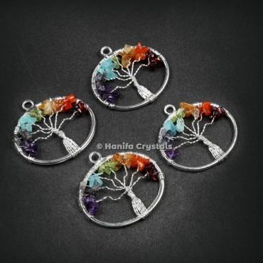 Circle Shape Tree Of Life Pendant