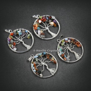 Round Shape Tree Of Life Pendant