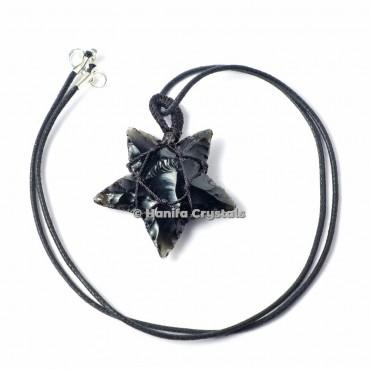 Black Obsidian Wire Wraped Pendants