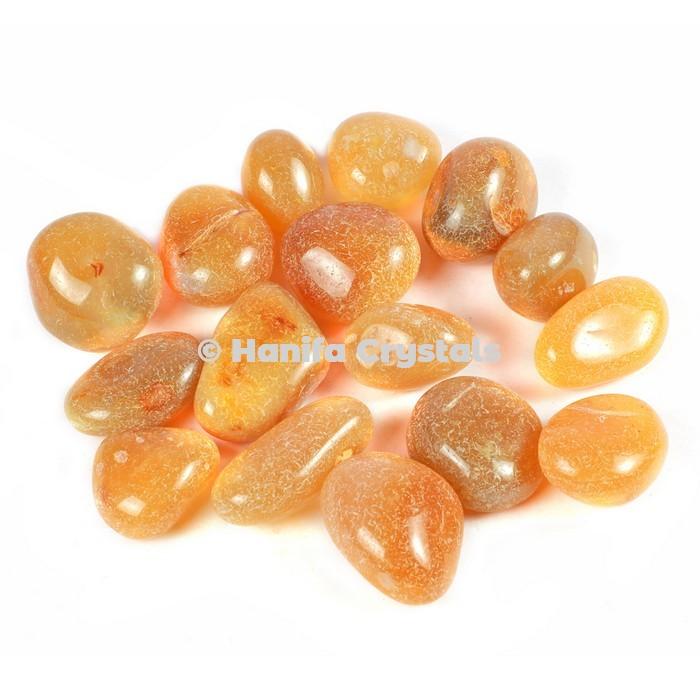 Yellow Onyx Tumbled Stones