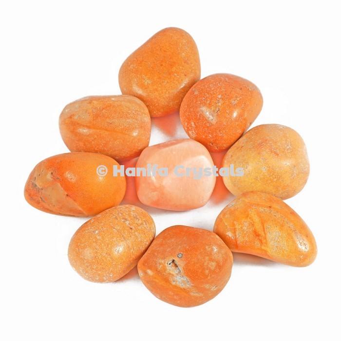 Yellow Jade Tumbled Stones